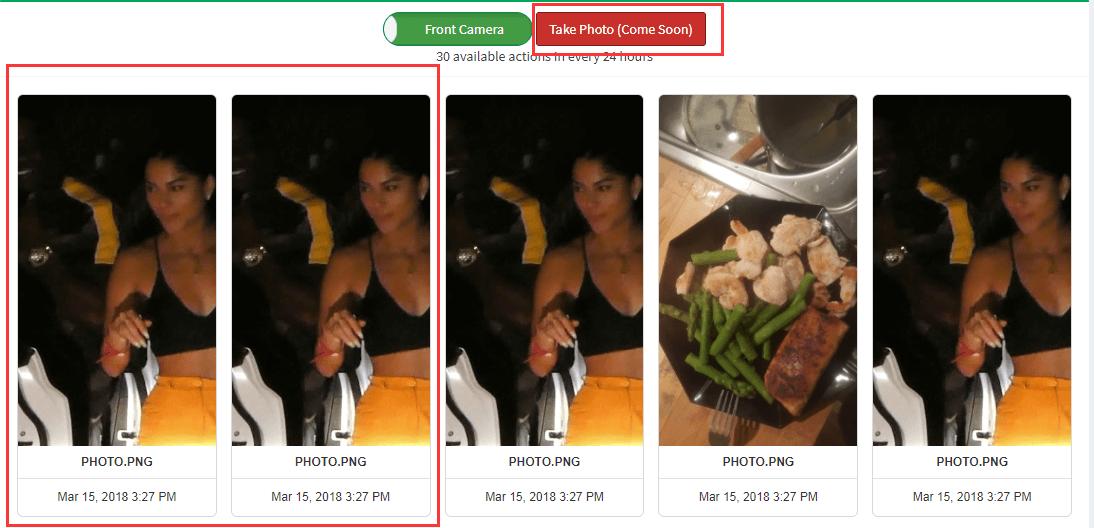 Take photos remotely