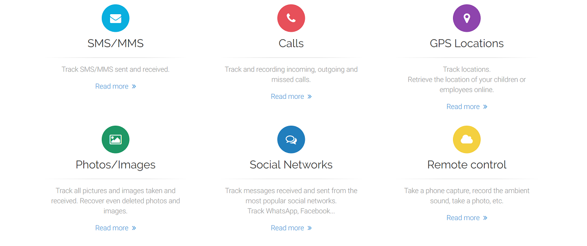 Características de Mobile Tracker Free