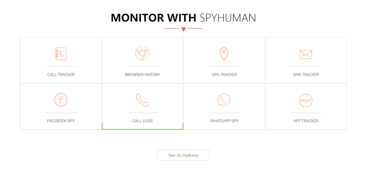 Features of SpyHuman