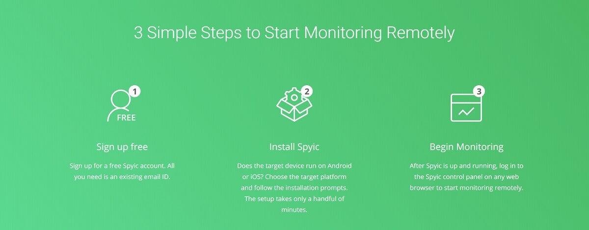 3 pasos para instalar Spyic